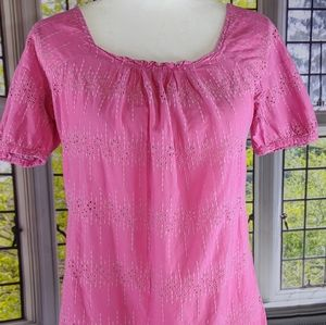 J. Crew Pink Pullover Blouse
